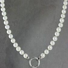 Modeschmuck-Halsketten & -Anhänger aus Perlen für Damen mit Perlmutt-Hauptstein