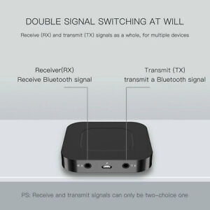 1*Bluetooth 5.0 HD Transmitter Receiver Audio Optical Cordless Adapter HD for TV