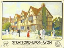 STRATFORD UPON AVON SHAKESPEAR BIRTHPLACE TIN PLAQUE METAL SIGN WALL ART 1040