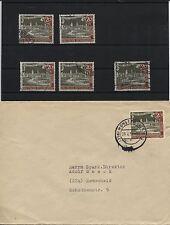 Berlin 159 x+y je Plattenfehler I+II, 159 III auf Brief, 159 IV gestemp.(B05629)