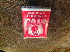 Vintage STUD Pinochle Playing Card Deck (Red) [Fontaine // Nugget // Wynn]