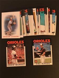 1986 Topps Baltimore Orioles Team Set With Traded 35 Cards
