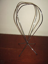 Vintage Chrome Metal Wire Hat / Wig Stand