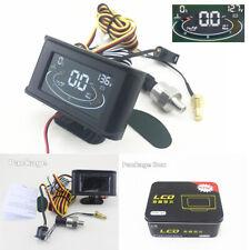 Universal 3in1 12/24V Car Oil Pressure Gauge Voltmeter Water Temp Meter W/Sensor