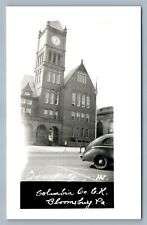 BLOOMSBURG PA COLUMBIA COUNTY COURT HOUSE VINTAGE REAL PHOTO POSTCARD RPPC