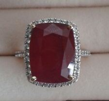 AAA African Ruby Rare size Cushion cut in 9k Yellow Gold