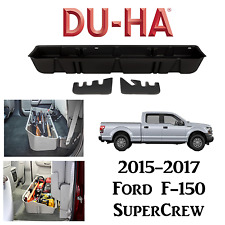 DU-HA 20110 BLACK Underseat Storage/Gun Case For Ford F150 SuperCrew 2015-2017