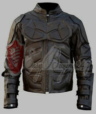 Handmade Batman Dark Knight Rises Leather Jacket Costume Motorcycle Real Leather
