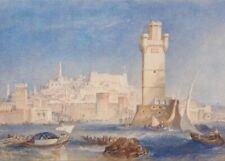 Rhodes, 1823, J.M.W. TURNER, Romanticism Art Poster