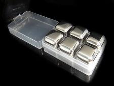 6 PCS Ice Cube Rock Whisky Stone Box Set for Scotland Macallan Glenfiddich Lover