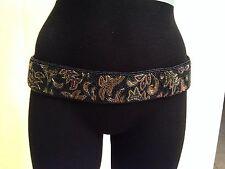 Vintage 1980's Beautiful Black Beaded Belt Rare