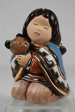 Rinconada De Rosa Doll Collection 'Bear Care' Girl Hugging Cub - NEW  #G04 NIB