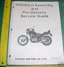 1985 SUZUKI GS550LG ASSEMBLY SETUP & PRE-DELIVERY GUIDE