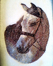 ARABIAN HORSE EMBROIDERED SET OF 2 BATHROOM TOWELS