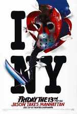 Friday 13th 8 Poster 02 A3 Box Canvas PRint