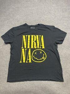 Nirvana Shirt Mens Extra Large 2016 Smiley Concert Graphics Print Adult Tee