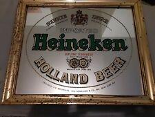 """Heineken Pub/Bar Mirror. 17 3/4"""" x 14 3/4"""" x 3/4"""". Mirror in great shape!"""