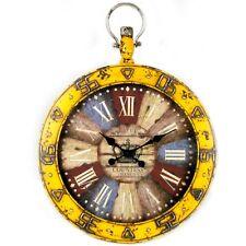 Orologio da Parete al Quarzo Vintage a Numeri Romani Latta 59 x 5 x 80 cm