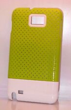 for samsung galaxy note 1 note i N7000 i9220 slid in perforated case green white