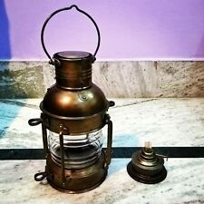 Antique Vintage Maritime Ship Lantern Hanging Lamp Collectible Decor Item