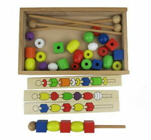 Bead Sequencing Set in Timber box Cognitive Development All Ages