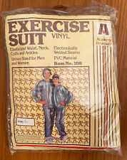Vintage 1982 Academy Broadway Vinyl Exercise Suit Silver Sealed Package Unisex L