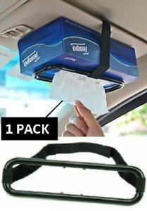 1 x Car Tissue Box Holder Napkin Universal Sun Visor / Back Seat Elastic - NEW