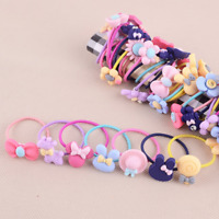 10Pcs Cute Elastic Rope Kids Girls Hair Ties Ponytail Holder Head Band Hairbands