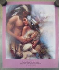 "Lee Bogle ""Sacred Bond"" signed Advertising Card Romantic Indian Couple"
