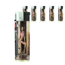 Texas Pin Up Girl D8 Lighters Set of 5 Electronic Refillable Butane