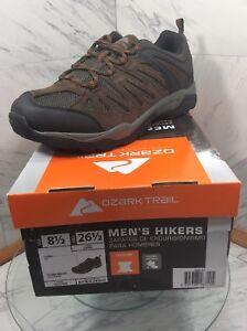 Ozark Trail Men's Low Mesh Hikers Var. Sizes. Leather  & Flex Midsole NEW IN BOX