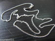 Pure Solid Platinum 950 Necklace /  Men Women O Link Chain Necklace/ 3.5g