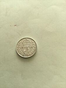 Maundy Nearly Mint Grade 3p 1913 Superb Coin