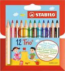 Lápices de colores Stabilo Trio 205/12-01 12 x Estuche corto dick