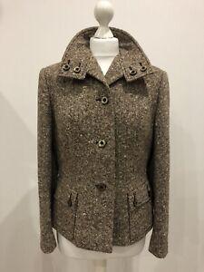 Vintage 1970s Brown Wool Jacket Size 16, Aubrey Segal, Wool Mix, Made In 🇬🇧