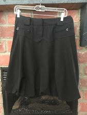 CACHAREL of PARIS Black Parachute SKIRT W/ Zipper POCKETS~ Sz Euro 38