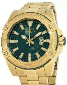 Invicta Pro Diver Automatic Green Dial Gold Stainless Men's Watch (Model 27013)