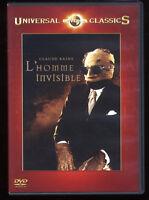 L'HOMME INVISIBLE  James WHALE d'après H.G. WELLS   Claude RAINS   DVD ZONE 2