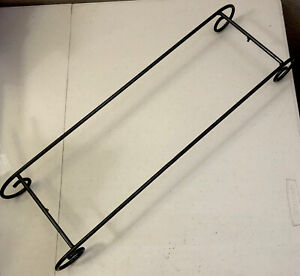 """FREESTANDING ROD IRON OPEN STAND APPROX 21"""" X 6"""" X 2.5"""""""