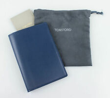 NWT TOM FORD Yale Blue Smooth 100% Leather Bifold Card Holder Wallet $390