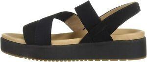 SOUL Naturalizer Women's Holla Wedge Sandal, Black, Size 7.0