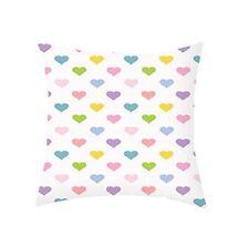 """Cotton Cushion Cover Heart Waist Throw Pillow Case Home Sofa Decor 16"""" X 16"""""""