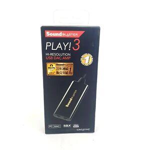 Creative Sound Blaster Play! 3 USB audio interface up to 24bit