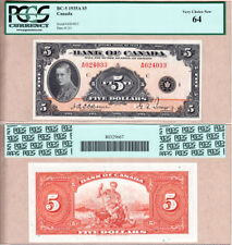 1935 $5 Bank of Canada Prince of Wales in PCGS Choice UNC64.  BC-5