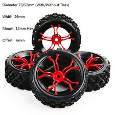 4Pcs Rally Tires&Wheel Rim MPNKR+PP0487 For HSP HPI RC 1:10 Racing Off Road Car