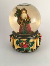 Music box snow globe Santa Father Christmas San Francisco Music Box Chestnuts