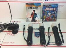 Sony Playstation 3 PS3 Move Bundle 3 Controllers / EYE - SEALED GAMES - WARRANTY