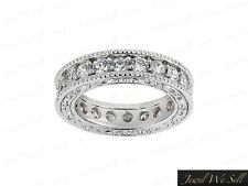 1.25Ct Round Diamond Antique Milgrain Eternity Band Ring 10k Gold GH I1 Prong