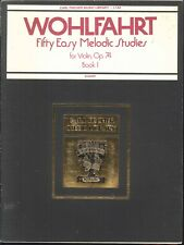 Wohlfahrt 50 Easy Melodic Studies Op 74 Book I Violin Fischer L142 Etude