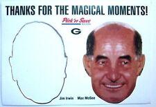 Vtg. 1998 Max McGee Cut Out Mask Green Bay Packers Pick'n Save Ad Souvenir SGA